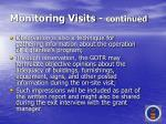 monitoring visits continued47