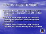 results oriented model