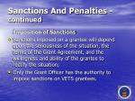 sanctions and penalties continued69
