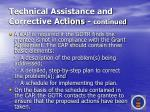 technical assistance and corrective actions continued64