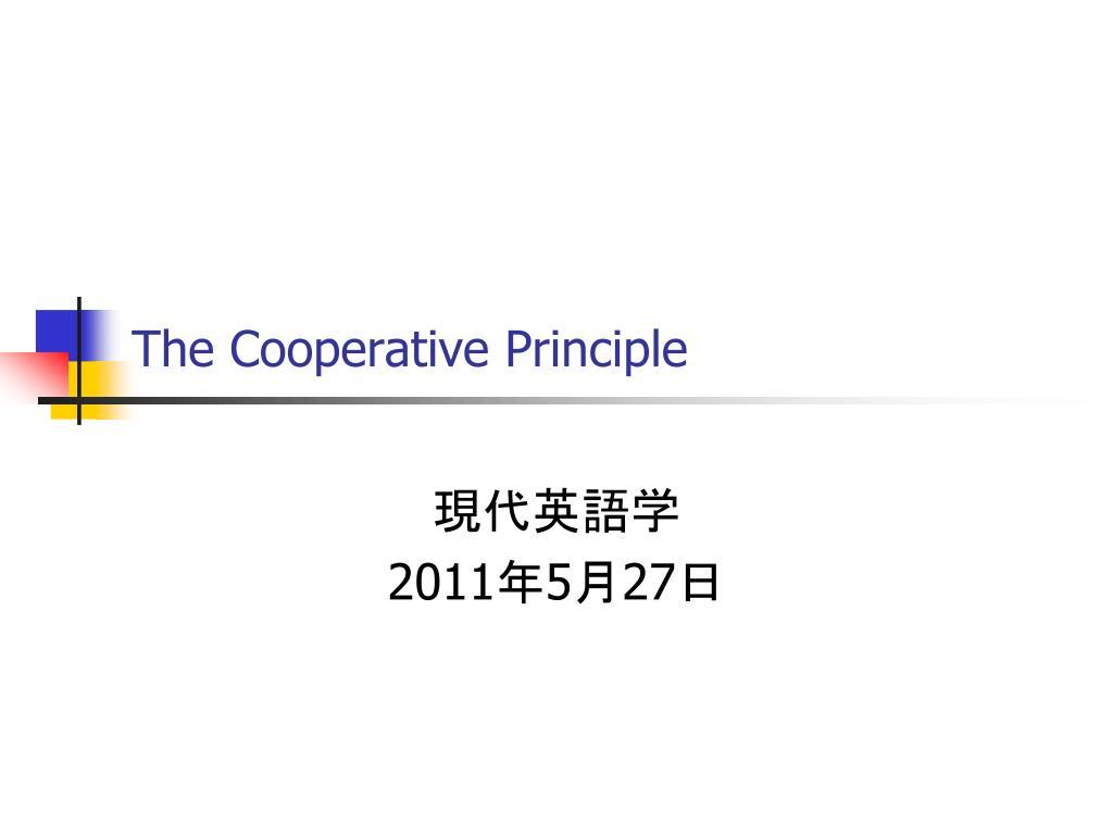 the cooperative principle l.