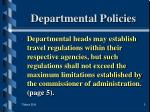 departmental policies
