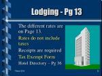 lodging pg 13