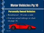 motor vehicles pg 10