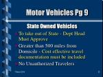 motor vehicles pg 9