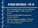other expenses pg 1434