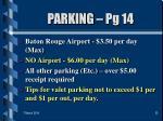 parking pg 14