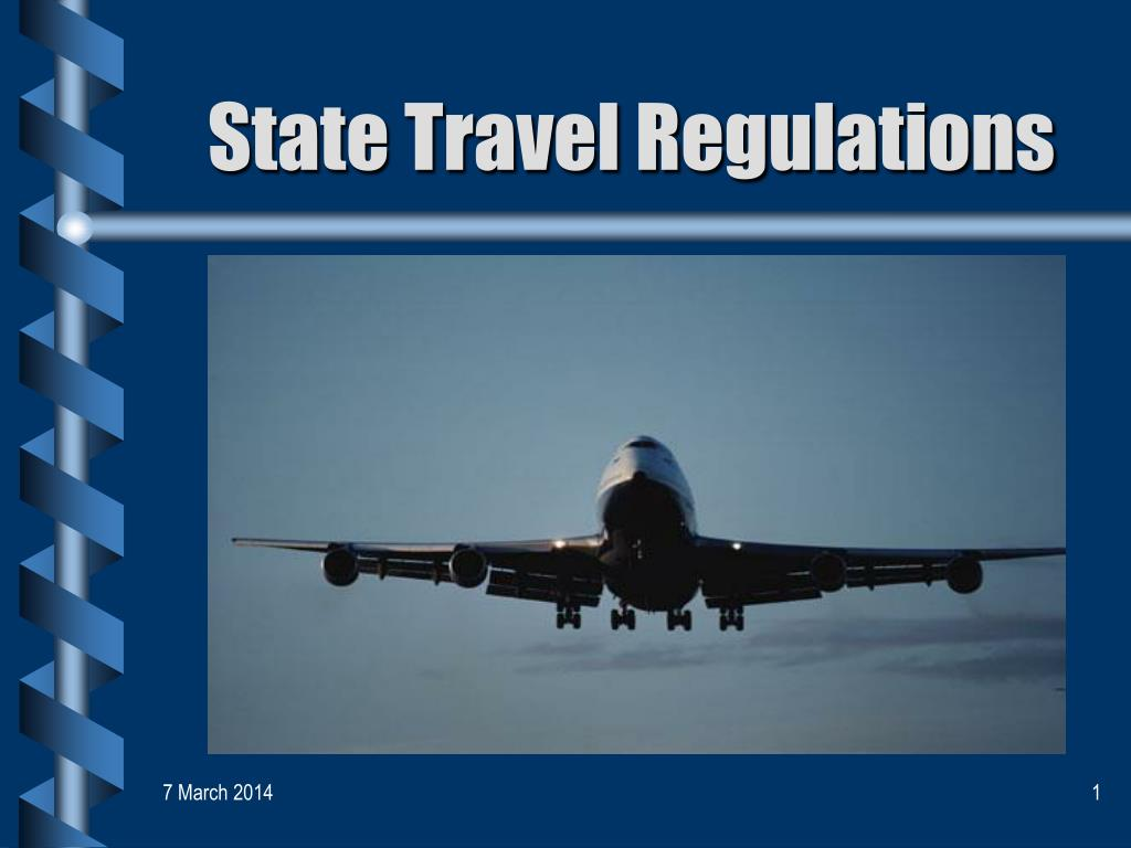 state travel regulations l.