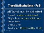 travel authorizations pg 6