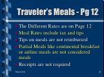 traveler s meals pg 12