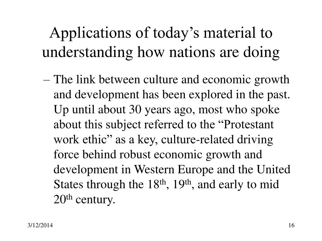 Applications of today's material to