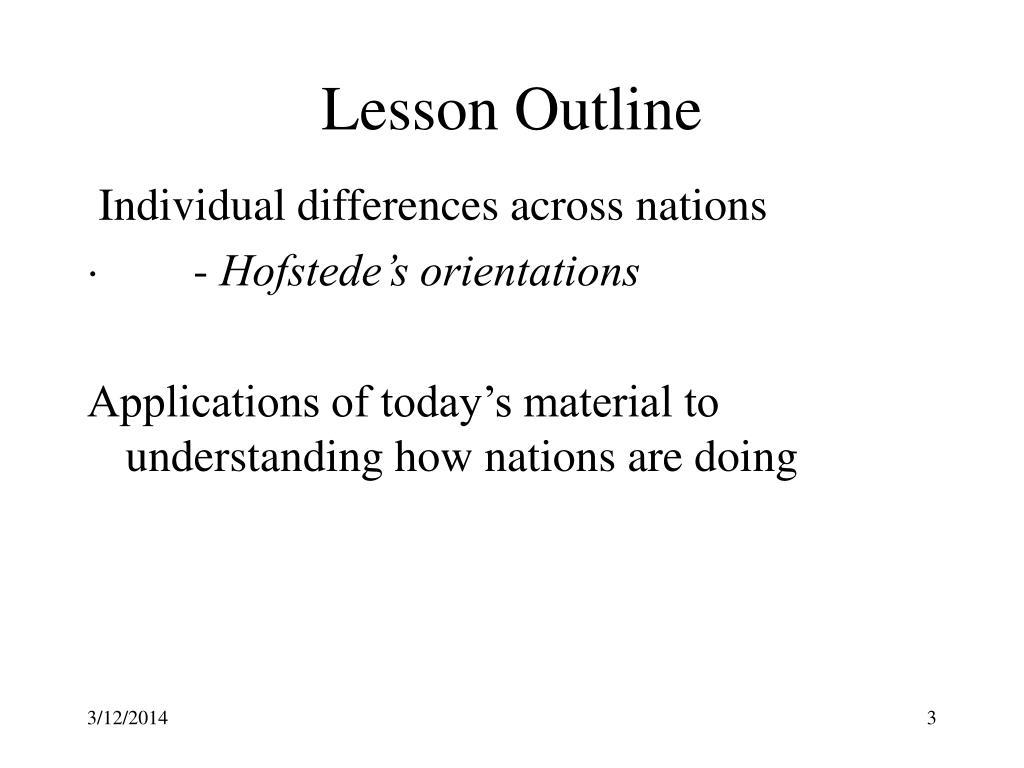 Lesson Outline