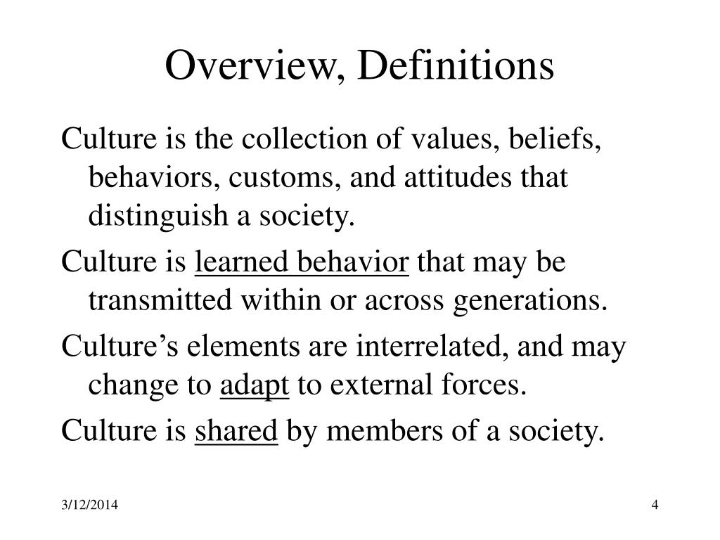 Overview, Definitions