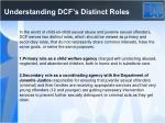 understanding dcf s distinct roles