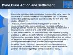 ward class action and settlement