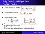 fully developed pipe flow friction factor