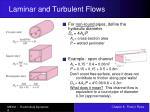 laminar and turbulent flows8