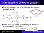 piping networks and pump selection28