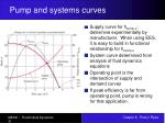 pump and systems curves