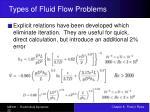 types of fluid flow problems22