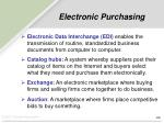 electronic purchasing