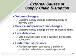 external causes of supply chain disruption
