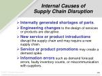 internal causes of supply chain disruption
