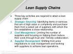 lean supply chains