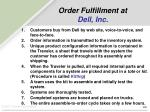 order fulfillment at dell inc