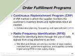 order fulfillment programs