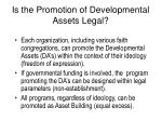 is the promotion of developmental assets legal
