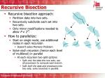 recursive bisection