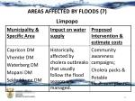 areas affected by floods 7