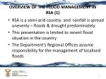overview of the flood management in rsa 1