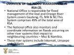 overview of the flood management in rsa 2