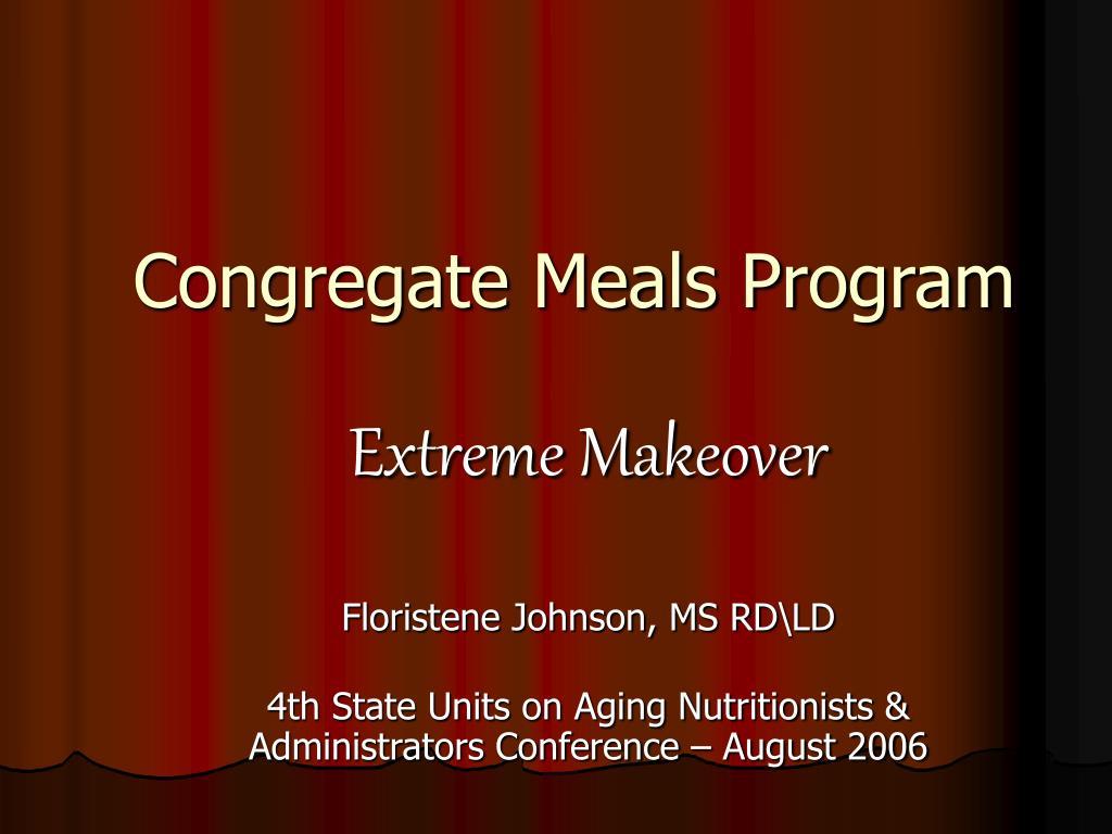 congregate meals program l.