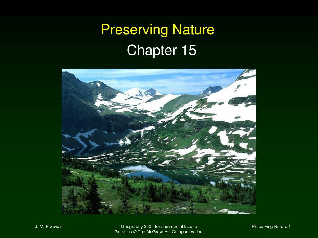 preserving nature l.