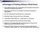 advantages of floating offshore wind farms