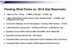 floating wind farms vs oil gas reservoirs