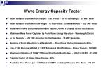 wave energy capacity factor