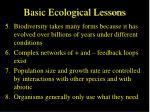 basic ecological lessons46