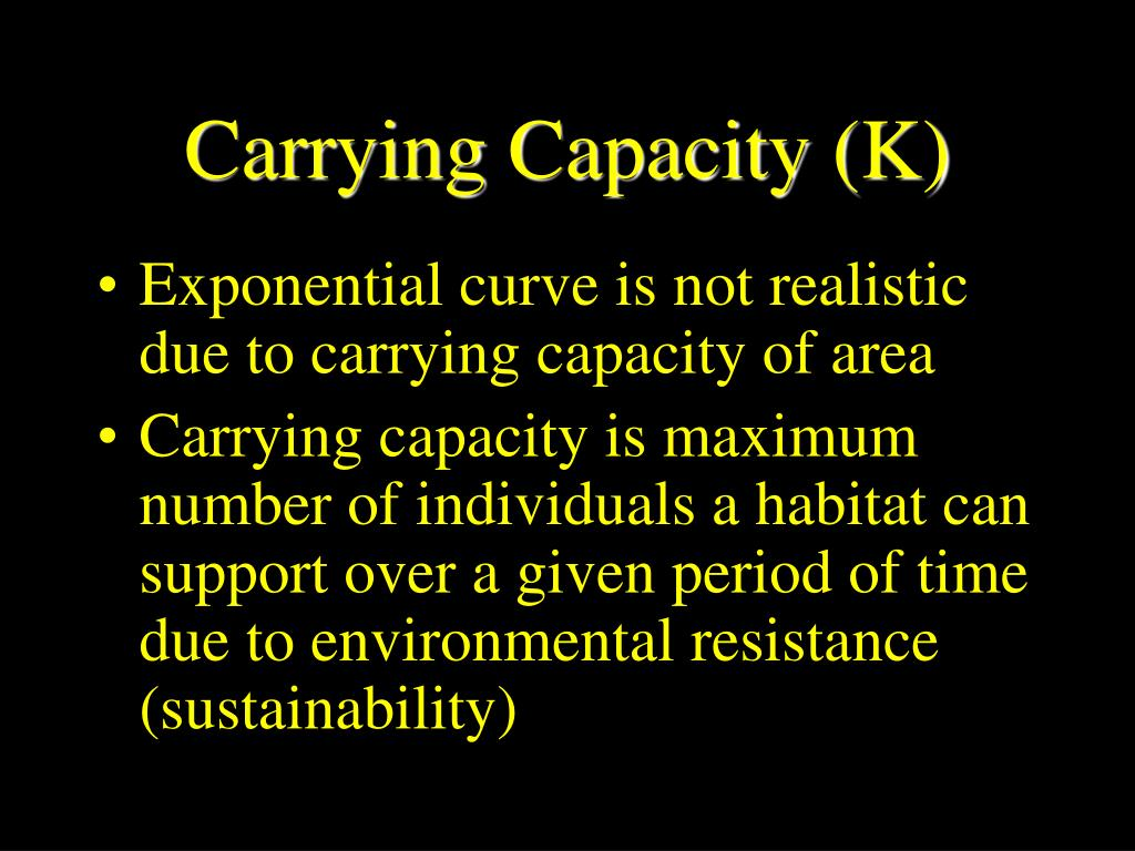 Carrying Capacity (K)