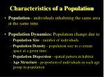 characteristics of a population
