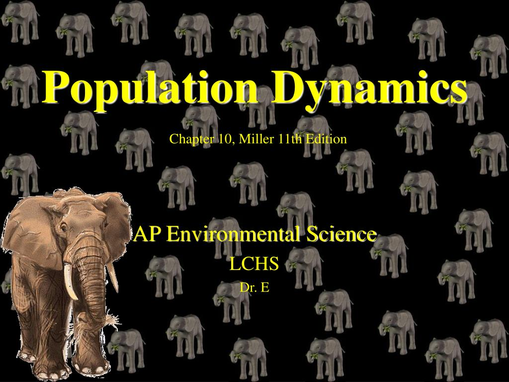 population dynamics chapter 10 miller 11th edition l.