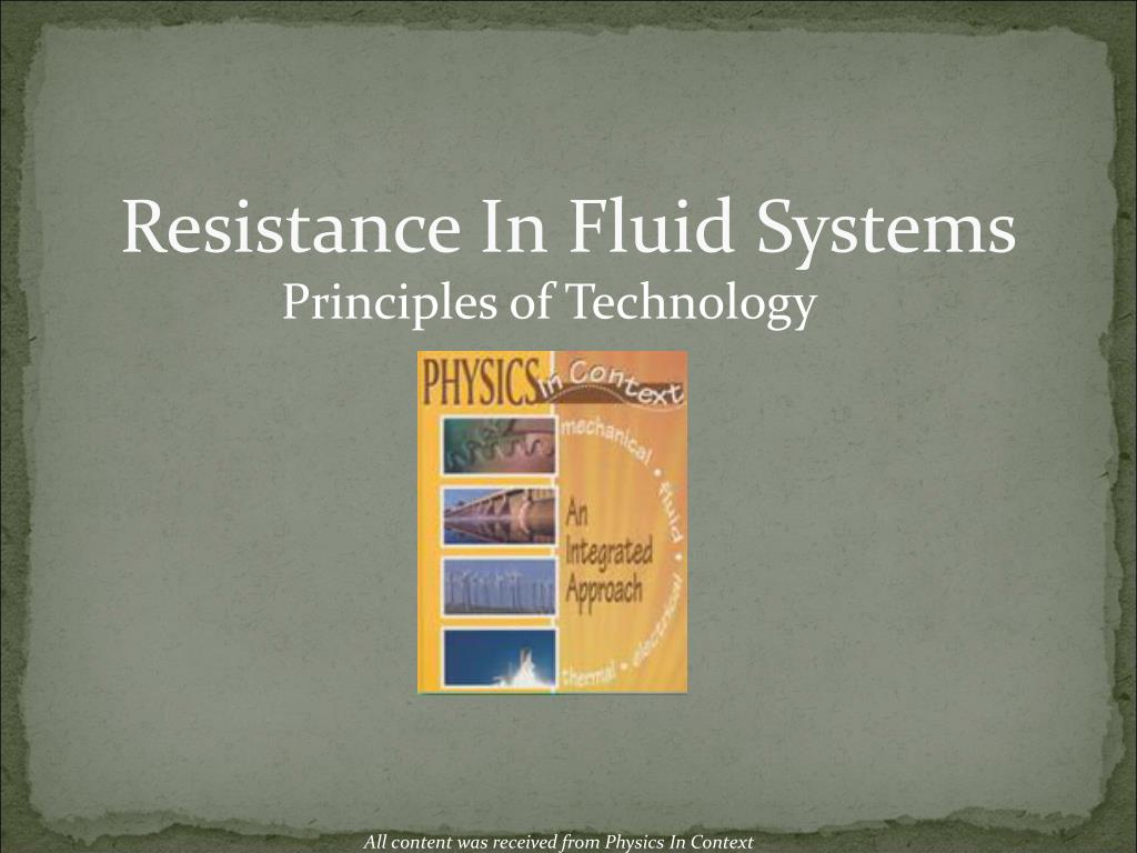 resistance in fluid systems l.
