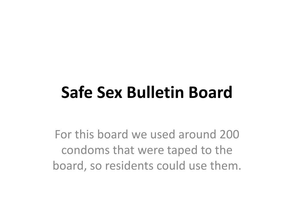 safe sex bulletin board l.