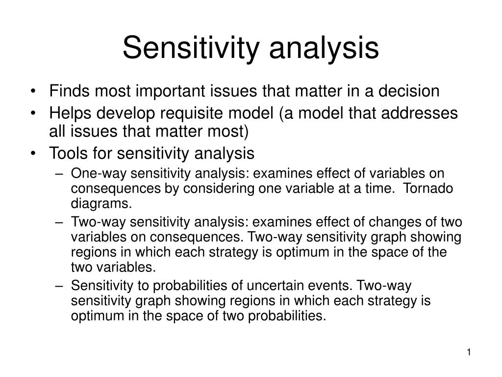 sensitivity analysis l.