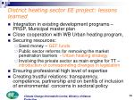 district heating sector ee project lessons learned