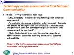 technology needs assessment in first national communication