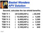 basket wonders apv solution47